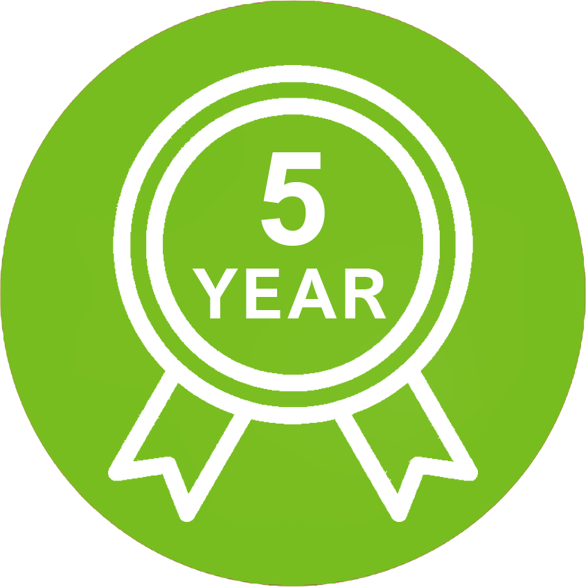 Reldair geeft vijf jaar garantie op de druppelgrootte van al haar systemen. Meer informatie daarover vind je op deze pagina.